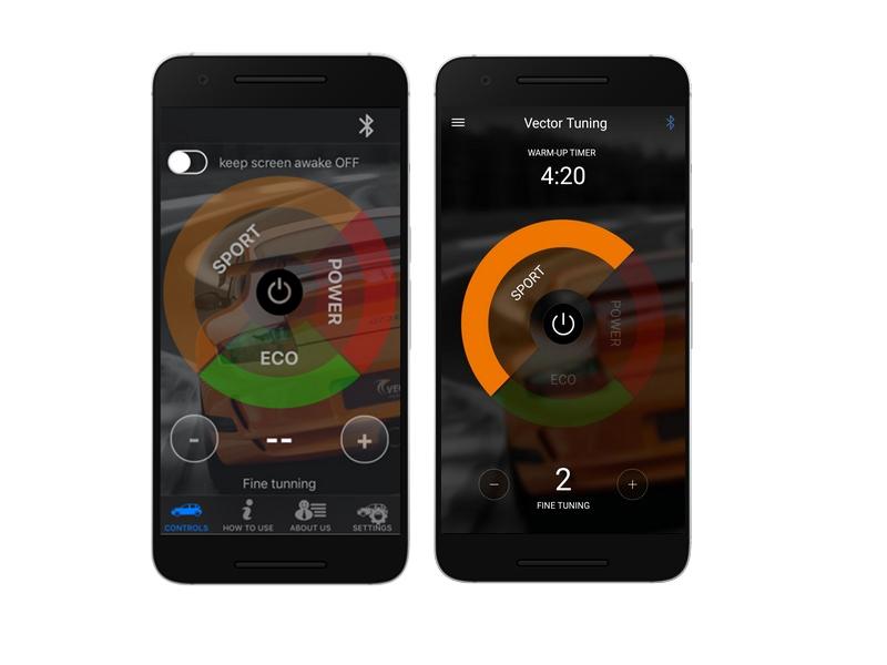 Vector Tuning Bluetooth-Anwendung für das Chip-Tuning-Modul